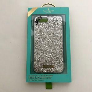 🆕NWT Kate Spade Hybrid Glitter 7+/8+ Case